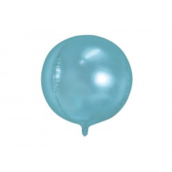 1 ballon mylar sphère bleu ciel - 40 cm