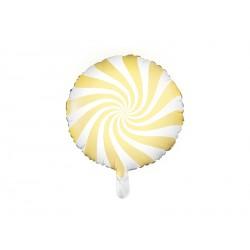 1 ballon mylar candy-jaune pâle