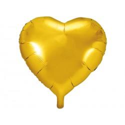 1 ballon mylar coeur 45 cm - or