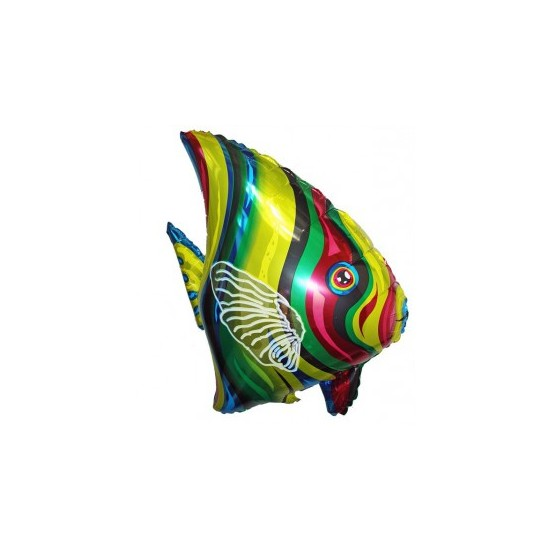 Ballon aluminium mylar poisson tropical