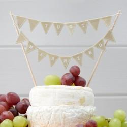 "1 cake topper ""Just married"" vintage"