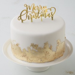 1 cake topper Merry Christmas or