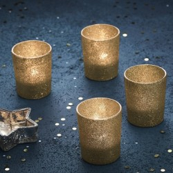 4 bougeoirs - Or glitter