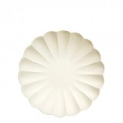 6 petites assiettes eco - Crème