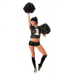 T-shirt pompom girl - noir