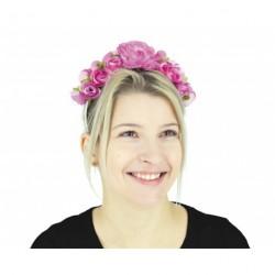 Serre tête à fleurs frida - rose