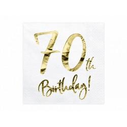 20 serviettes 70th birthday
