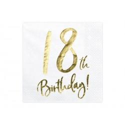 20 serviettes 18th birthday