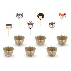 Kit cupcake animaux des bois