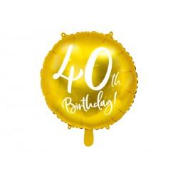 1 ballon 40th birthday or 45cm