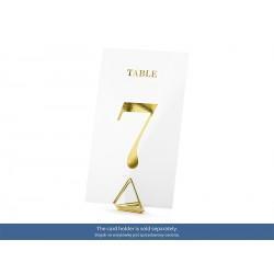 Numéro de table - transparents et or
