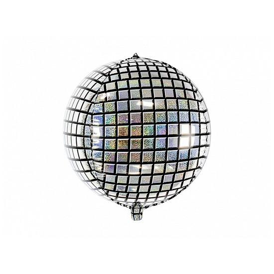 Ballon mylar boule à facettes disco-40cm