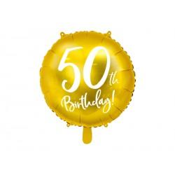 1 ballon mylar 50th birthday 45 cm - or