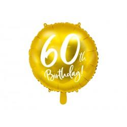 1 ballon mylar 60th birthday 45 cm - or