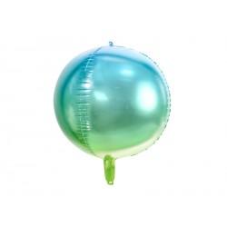 Ballon aluminium dégradé - Bleu et vert
