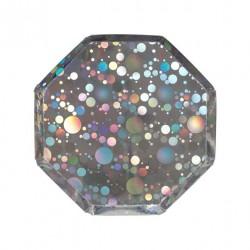 8 petites assiettes - Bulle holographique