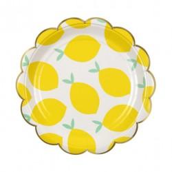 8 petites assiettes citron