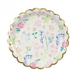 8 petites assiettes - Fleurs des champs