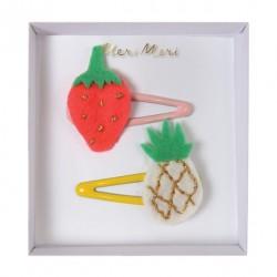 2 clips fraise et ananas