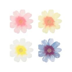 16 serviettes - Fleurs pastel