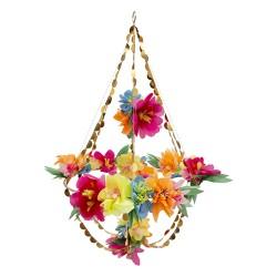 Lustre fleuri - multicolore