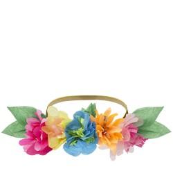 6 couronnes fleuries en papier