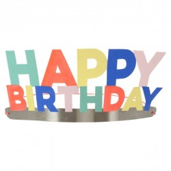 8 couronnes Happy Birthday - Multicolore
