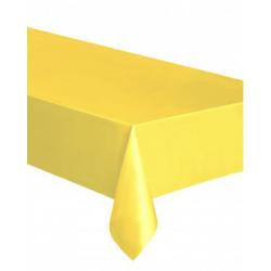 Nappe en plastique - jaune vif