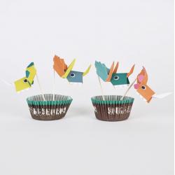 Kit 24 cupcakes - Dinosaure