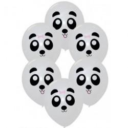 6 ballons imprimés - Panda