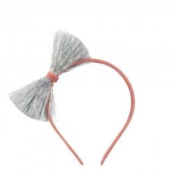 1 serre-tête noeud argent