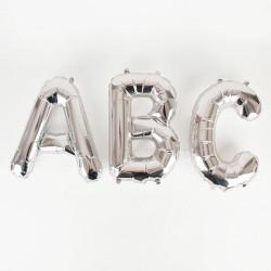 Petit ballon mylar lettre - Argent
