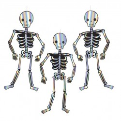 3 décoration squelette de 1,2m