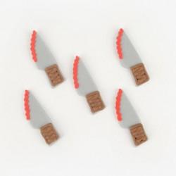 Décorations en pâte à sucre - couteaux ensanglantés