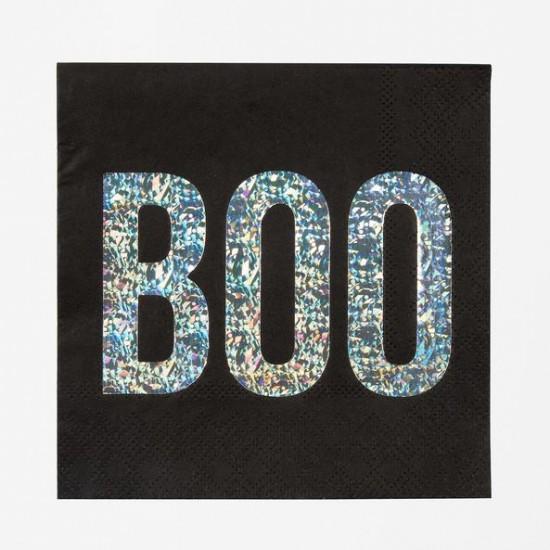 16 petites serviettes Boo