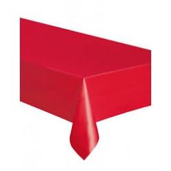 Nappe plastique - rouge