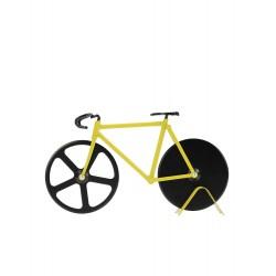 Coupe pizza - vélo jaune et noir