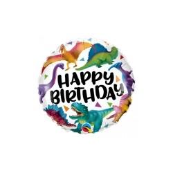 Ballon aluminium - Happy Birthday Dino