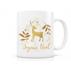 Mug - Joyeux Noel - renne doré