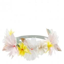 Couronne de fleurs en papier - Pastel