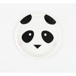 8 assiettes - mini panda