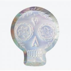 8 assiettes - Crâne holographique