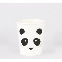 8 gobelets - mini panda
