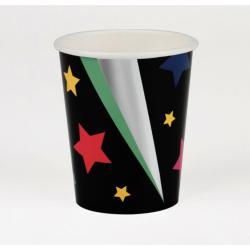 8 gobelets - étoiles disco