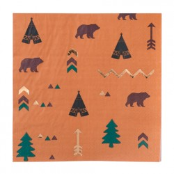 16 serviettes Indian forest