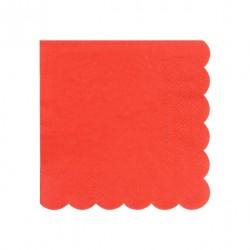20 petites serviettes - Rouge