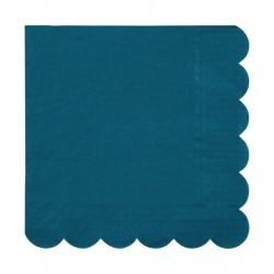 20 serviettes - Turquoise