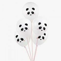 5 ballons tatoués - mini panda