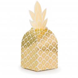8 boites à bonbons - ananas doré