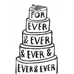"""Carte """"For ever & ever & ever"""""""